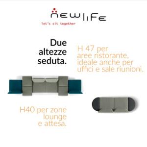 Sistema di sedute modulari New Life AND: cambiamo le regole?