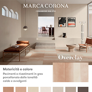Overclay by Marca Corona: superfici ceramiche ispirate al deserto