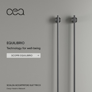 Scalda accappatoio e scaldasalviette elettrico: EQUILIBRIO by Ceadesign