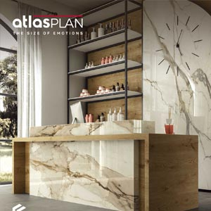 Lastre effetto marmo naturale con vena passante by Atlas Plan