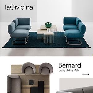 Forme minimali e versatili per il contract e il residenziale: Bernard by LaCividina