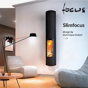 Focolare a legna da parete Slimfocus: prestazioni termiche eccezionali