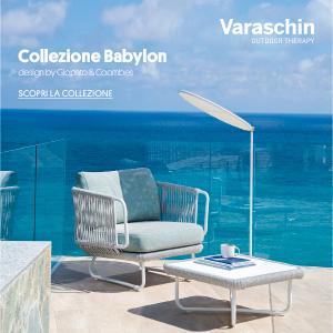 Varaschin collezione outdoor Babylon: intrecci a mano in corda ritorta