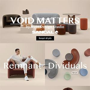 Sancal poltrone, divani, sedute, tavoli e sculture: Void Matters