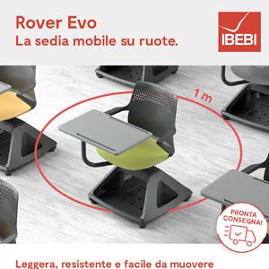 Sedia mobile su ruote per scuole, università, meeting e formazione