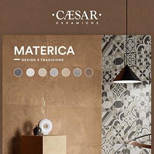 Grès porcellanato caldo, neutro, innovativo: Materica by Ceramiche Caesar