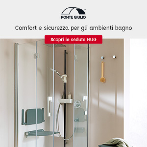 Sedute per ambienti bagno: collezione Hug by Ponte Giulio