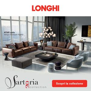 Longhi divani e tavoli collezione Sartoria 2020: artigianalità e cura del dettaglio