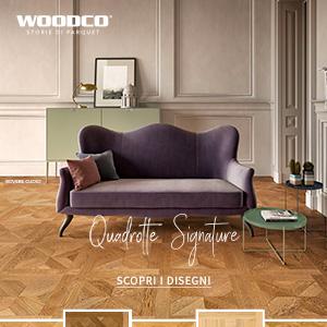 Parquet artigianali Woodco: soluzione creativa dalla forma nobile
