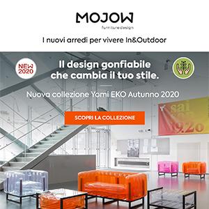 L'arredo gonfiabile eco-friendly MOJOW: nuovo catalogo autunno 2020