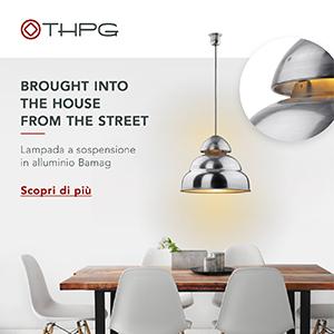 Lampada a sospensione in alluminio ispirata all'illuminazione stradale anni '50