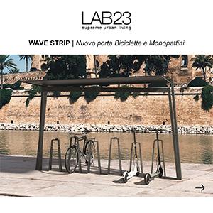 Porta biciclette e monopattini Wave Strip LAB23