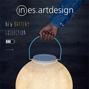 Collezione Battery by In-es.artdesign: lampade cordless dal design originale e colorato