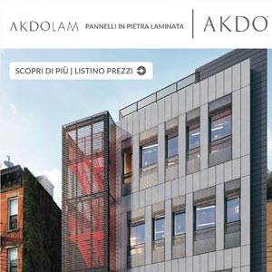 Pannelli in pietra laminata per indoor e outdoor: Akdolam by AKDO
