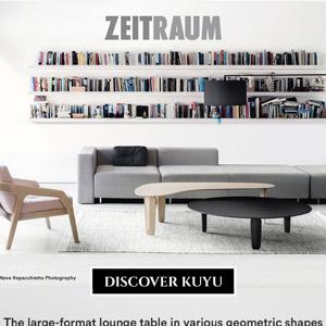 Kuyu by Zeitraum: il lounge table di grande formato in varie forme geometriche