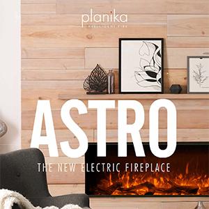 Planika Astro, camino elettrico con LED 3D