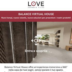Percorri la Virtual House di Love Tiles e scopri la collezione