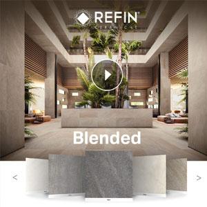 Ceramiche Refin Blended: superfici materiche calde e fredde dallo stile naturale