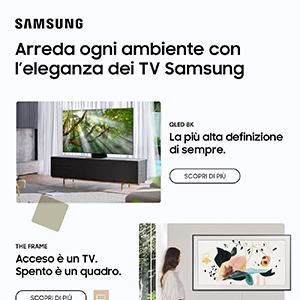 Arreda con Samsung: eleganza e il meglio della tecnologia