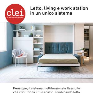 Clei: letto, living e work station in un unico sistema