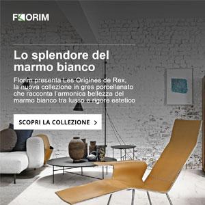 Florim presenta lo splendore del marmo bianco: Les Origines de Rex