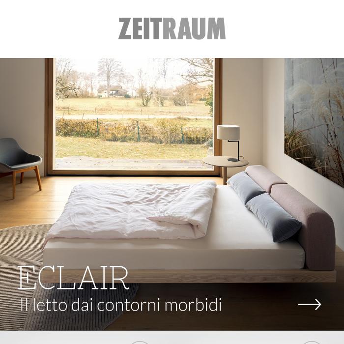 Zeitraum Eclair: il letto dai contorni morbidi