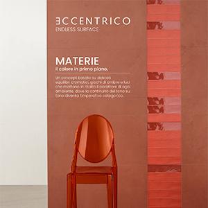 Rivestimenti ceramici Materie Eccentrico: il colore in primo piano