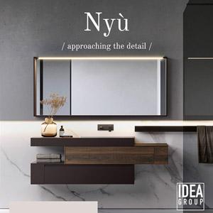 Arredo bagno Nyù by Idea: moderno, versatile, personalizzabile