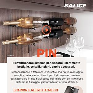 Salice Pin: disponi liberamente bottiglie, coltelli, ripiani, capi e accessori