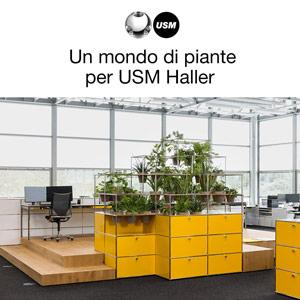 Accessori USM Haller per integrare le piante negli ambienti
