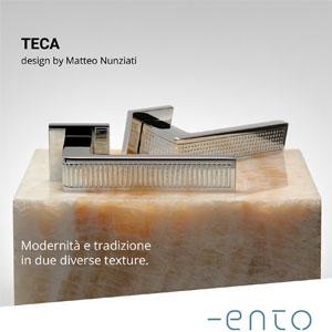 Maniglie Teca Ento: modernità e tradizione in due diverse texture