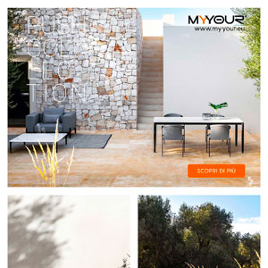 Arredi outdoor made in Italy: Myyour collezione Push