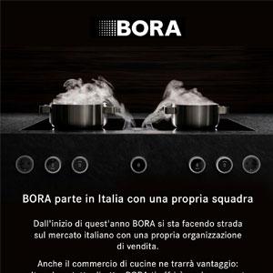 Aspiratori per piani cottura BORA: vendita ora anche in Italia