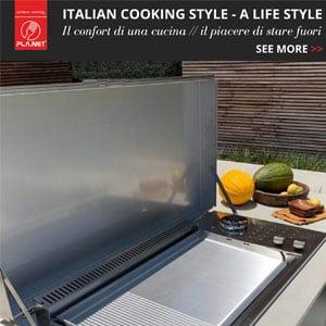La cucina modulare outdoor pronta all'uso: Oasi Built In by PLA.NET