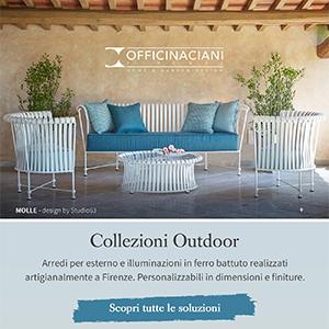 Collezioni Outdoor Officinaciani: l'arte del ferro battuto made in Italy