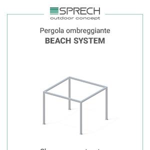 Pergole ombreggianti personalizzabili Beach System by Sprech