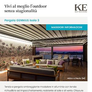 Pergola Gennius Isola 3 by KE: vivi l'outdoor tutto l'anno