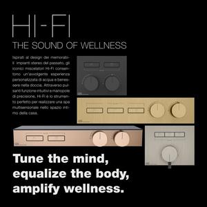 Miscelatori Gessi Hi-Fi ispirati agli iconici stereo degli anni '90