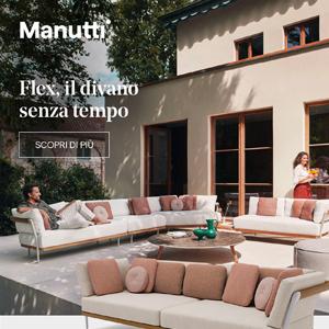 Manutti Flex, il divano outdoor senza tempo