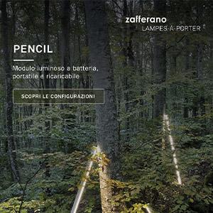 Novità Zafferano Lampes-à-porter: modulo luminoso Pencil