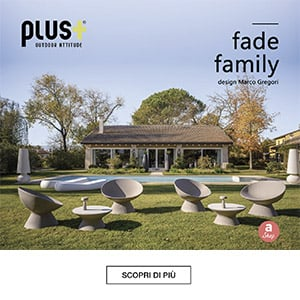 Poltrone, sgabelli, sedie e tavoli per l'outdoor: Fade Family by Plust Collection