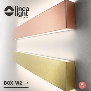 Applique dalla forma squadrata e dal design minimale: Box di Linea Light