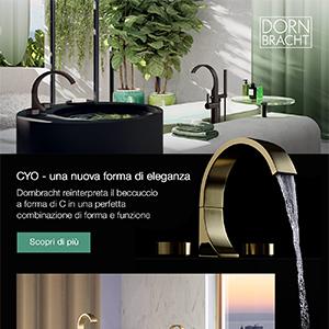 Dornbracht, una nuova forma di eleganza in bagno: collezione CYO