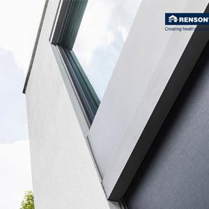 Schermatura solare resistente al vento per serramenti minimali - Renson Fixscreen Minimal