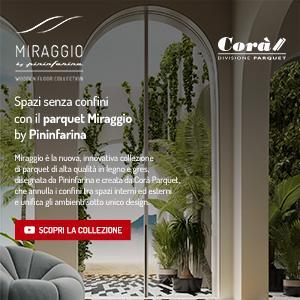 Parquet Miraggio by Pininfarina per Corà: spazi senza confini