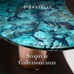 De Castelli, nuove collezioni 2021: il metallo si fa arredo, superficie, progetto