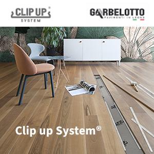 Sistema di posa per pavimento in legno: Clip up System by Garbelotto
