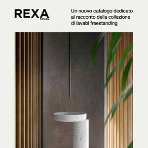 Lavabi freestanding Rexa: nuovo catalogo dedicato