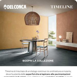 Ceramica del Conca Timeline: il cemento diventa industrial chic