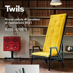 Nuove sedute Twils presentate al Fuorisalone 2021: comfort e funzionalità